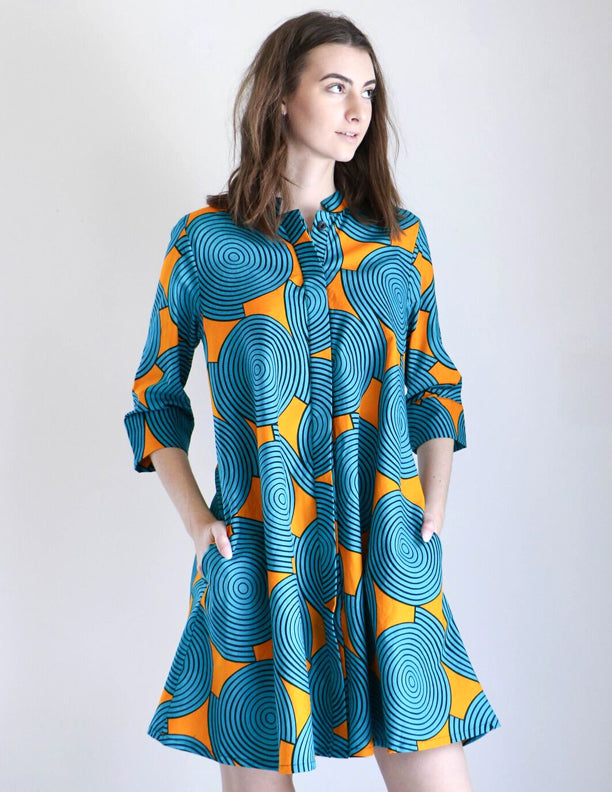 Zuri Shirt Dress in Hypnosis