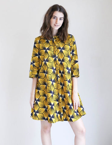 Zuri Shirt Dress in Sunburst