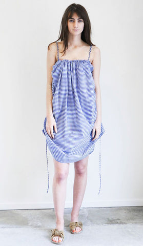 Caron Callahan Anna Dress in Blue Gingham