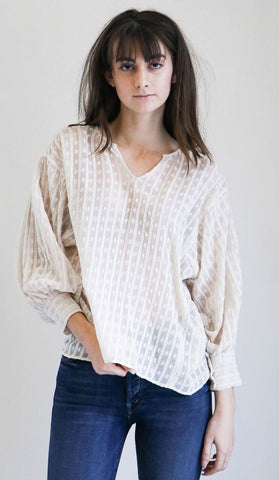 Nili Lotan Arlo Top in Ivory