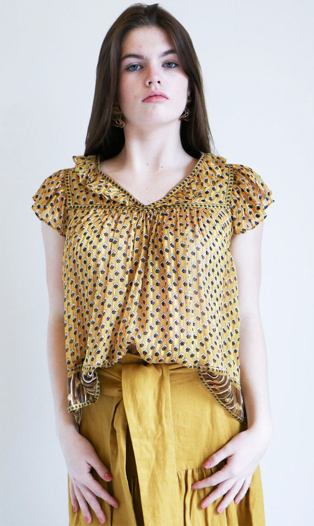 Ulla Johnson Avery Top in Gold