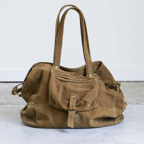 Jerome Dreyfuss Billy Medium Bag in Olive Lissa Lambskin