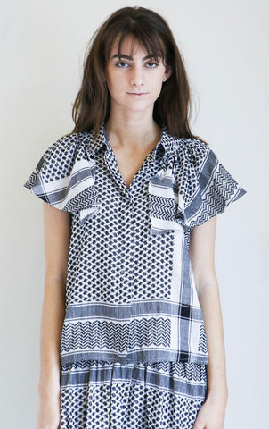 Cecilie Copenhagen Neobe Top in Black and White