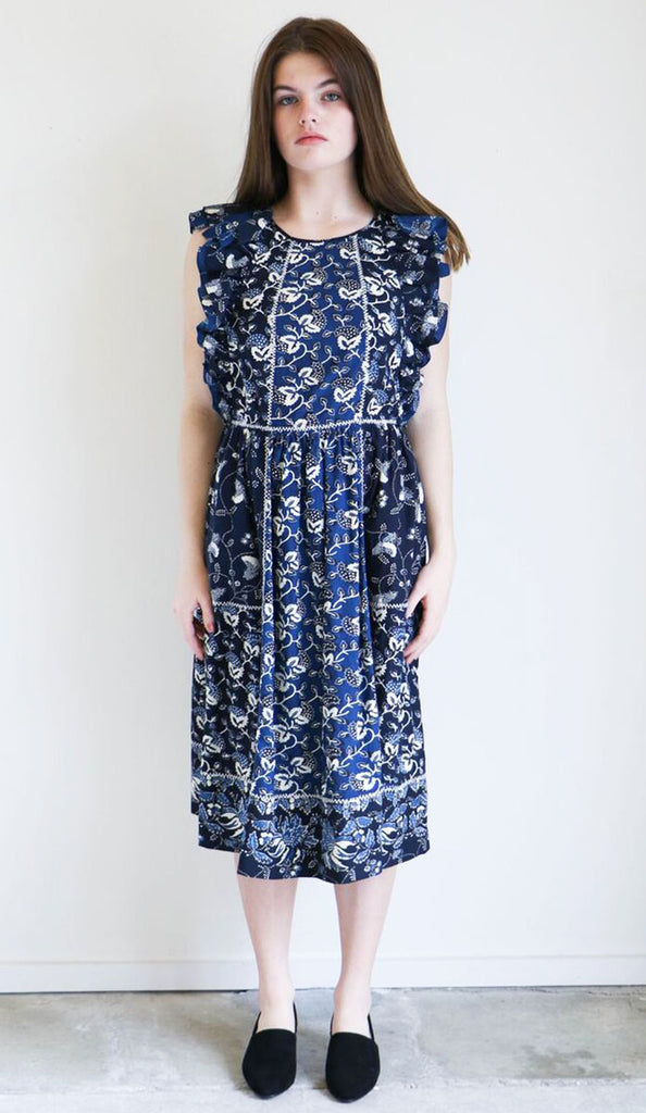 Ulla Johnson Citra Dress in Indigo