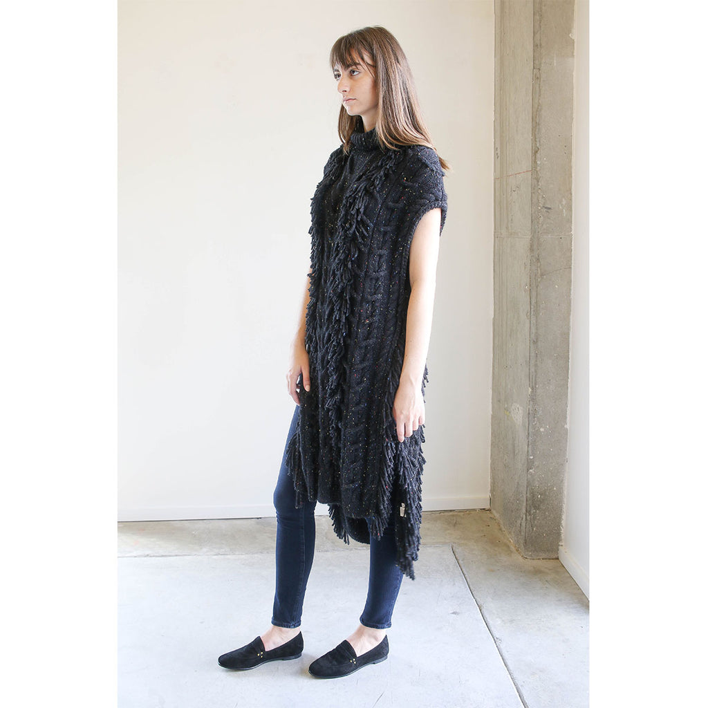 Ulla Johnson Damia Tunic in Charcoal