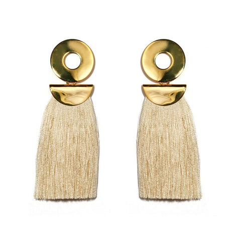 Lizzie Fortunato Go Go Crater Earrings in Champagne