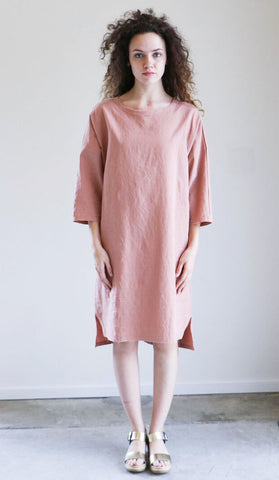 House Dress Benjamin Dress in Pink Earth