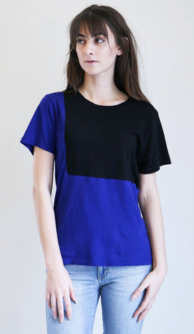 Correll Correll Ecke Tee in Purple and Black