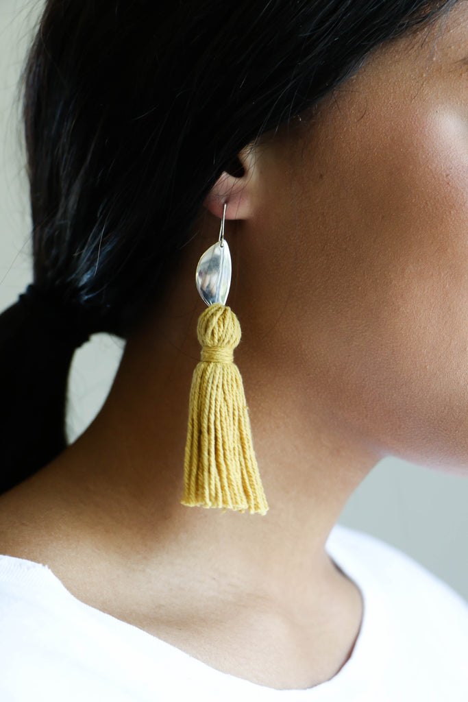 Erin Considine Medio Tassel Earring in Pericon