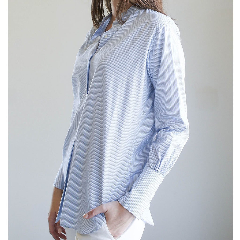 Nili Lotan Faye Shirt Blue/Black