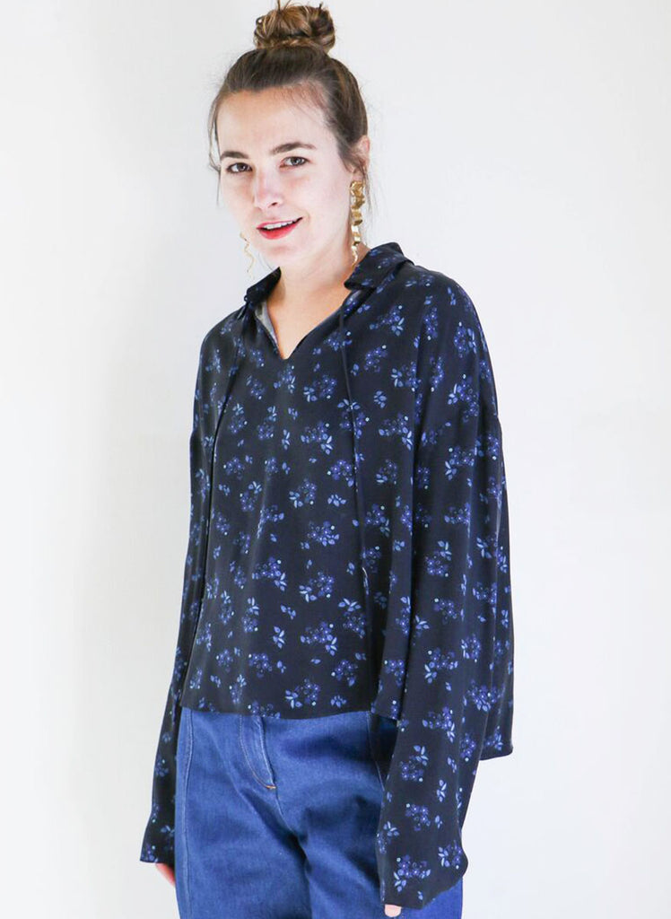 Creatures of Comfort Theo Top in Midnight Floral