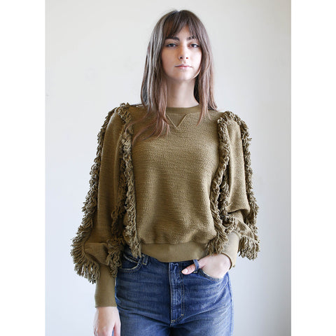 Ulla Johnson Hali Pullover in Army