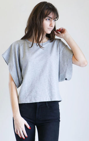 Pharaoh Kimono Sleeve Sweatshirt in Heather Grey