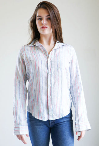 Frank & Eileen Barry Shirt in Grey Multi Stripe