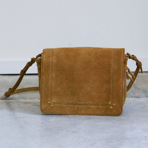 Jerome Dreyfuss Igor Crossbody Bag in Moutarde Bubble Lambskin