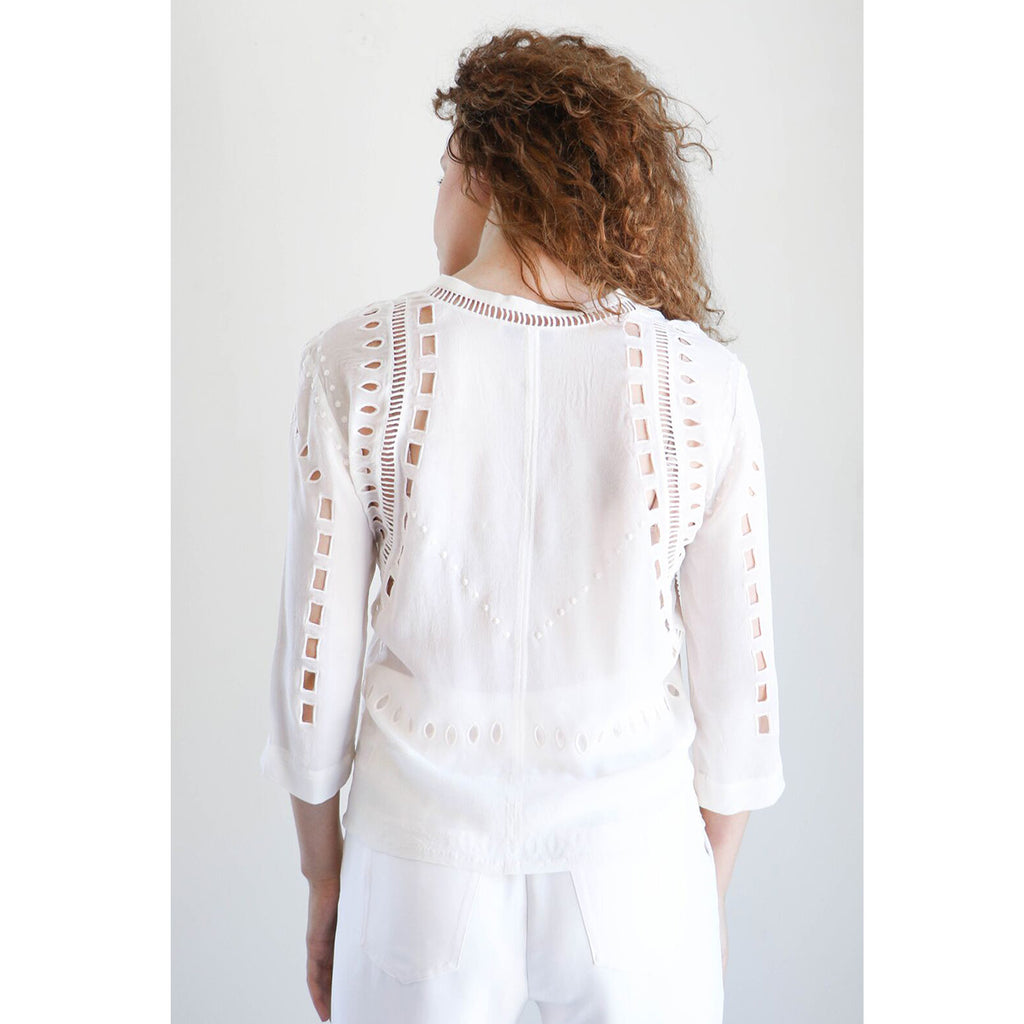 IRO Polita Top in Near White