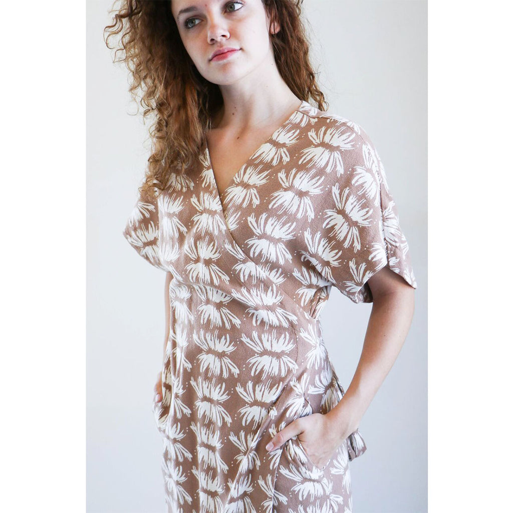 Mirth Caftans Krabi Wrap Dress in Masala