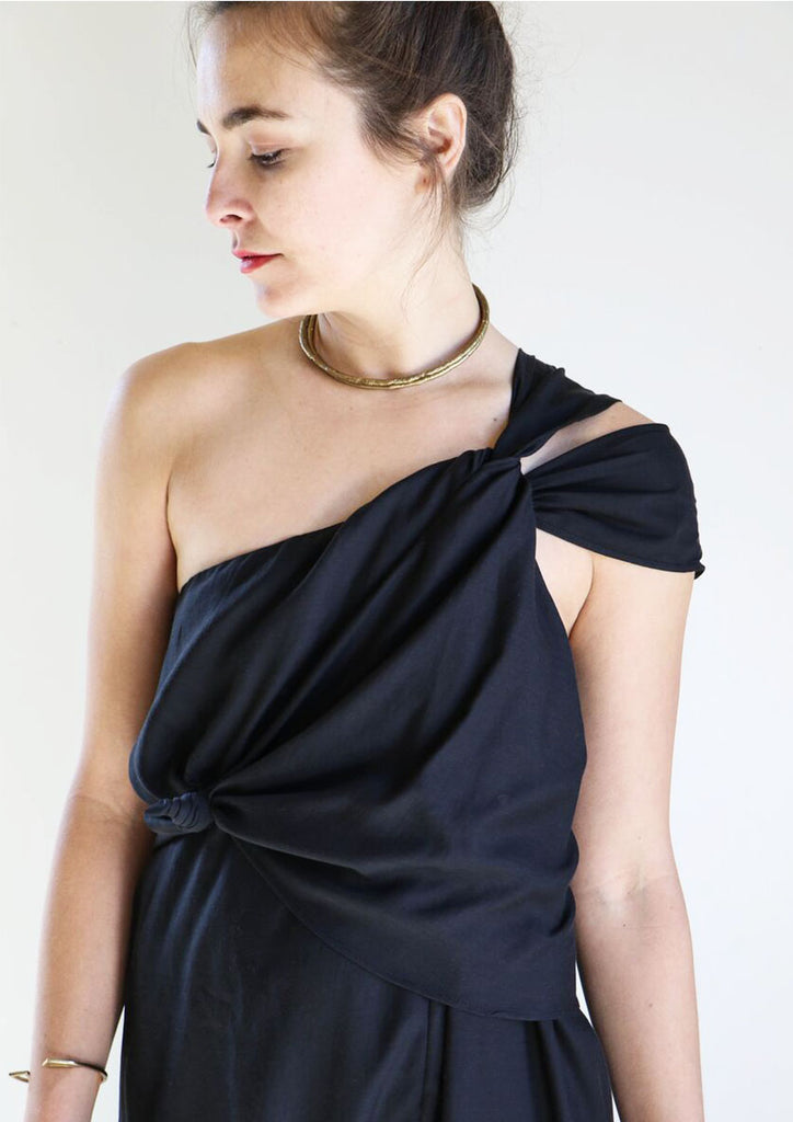 Shaina Mote Lark Dress in Onyx