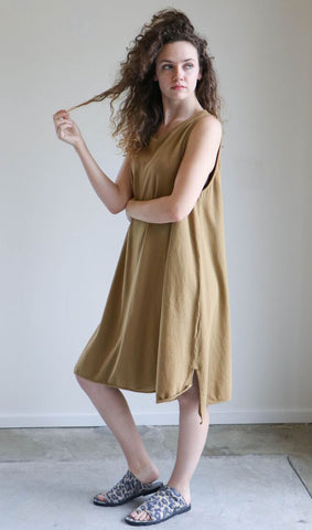Revisited Mesina Dress in Dark Gold
