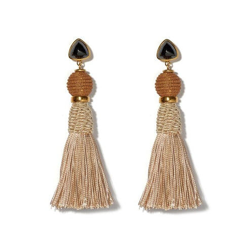 Lizzie Fortunato Modern Craft Earrings in Sand