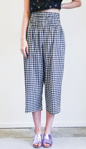 Caron Callahan Nora Pants in Black and White Gingham