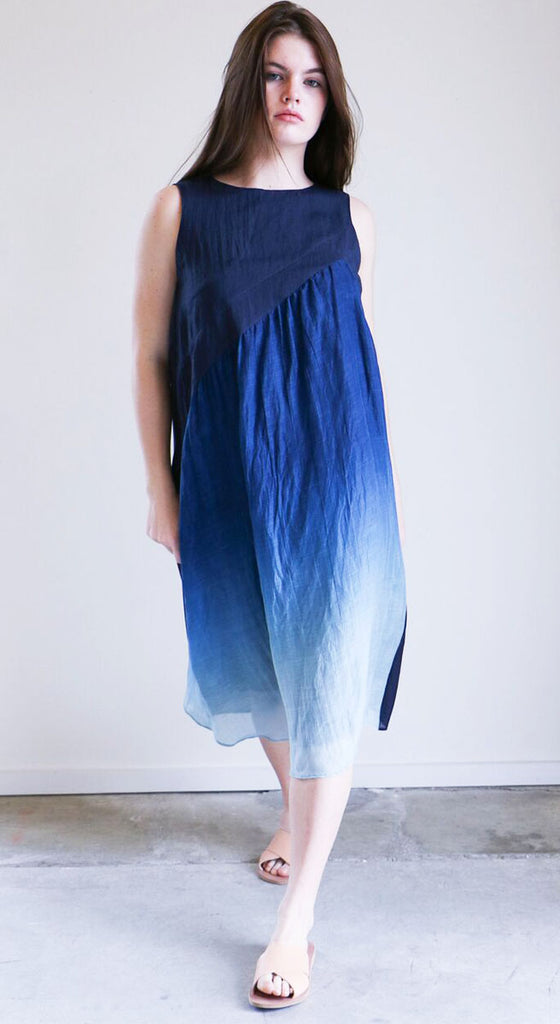 Pas de Calais Ombre Dress in Blue