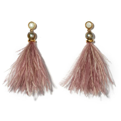 Lizzie Fortunato Parker Earrings in Mulberry