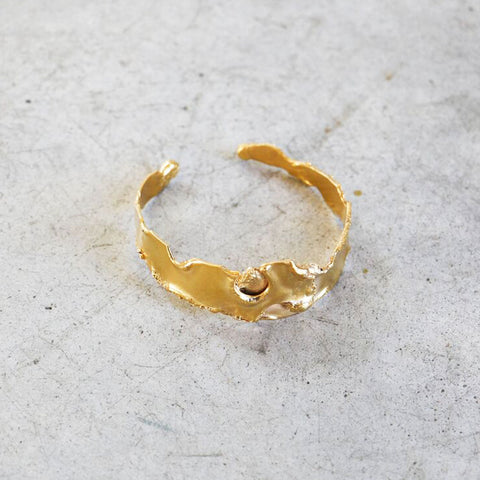 LM White Plasma Cuff in Gold