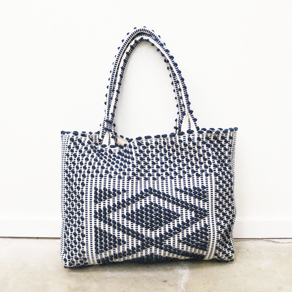 Antonello Liscia Rombi Tote in Blue + Grey