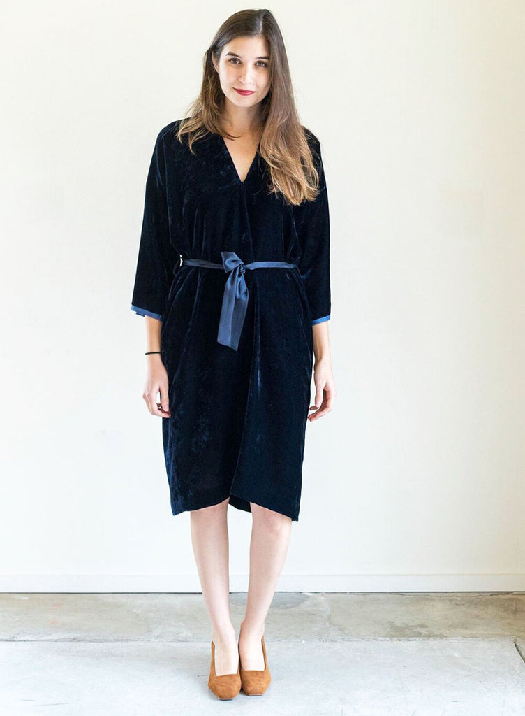 Nili Lotan Rochelle Dress in Navy