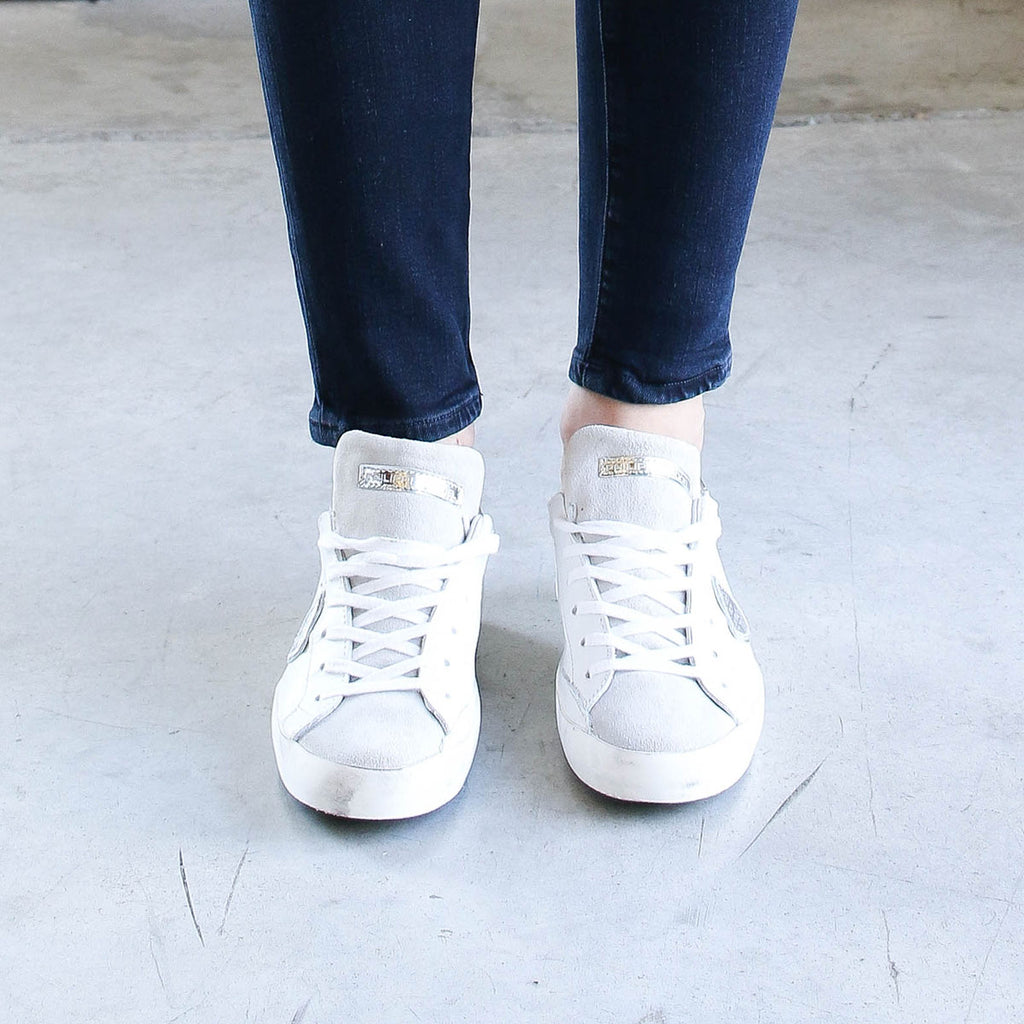 Philippe Model Paris Basic Sneaker Blanc/Silver
