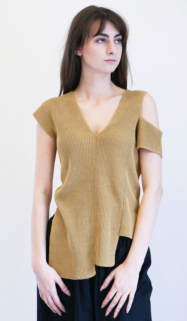 Correll Correll ItKnit Top in Yellow