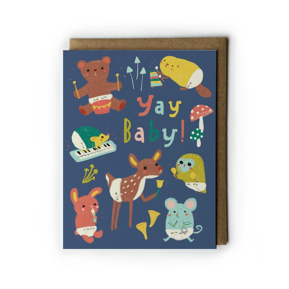 Yay Baby! Woodland Baby Card
