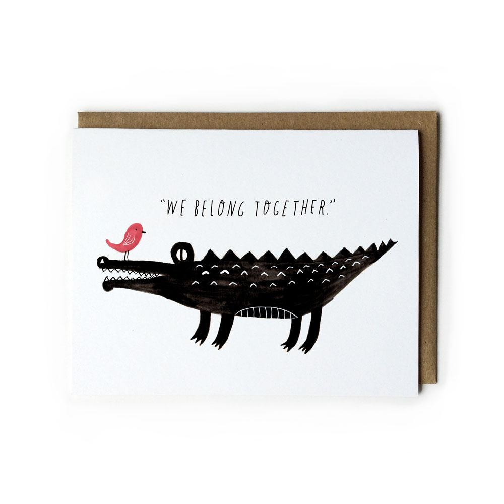 Croc & Bird We Belong Card