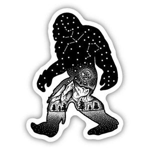 Sasquatch Constellation Sticker