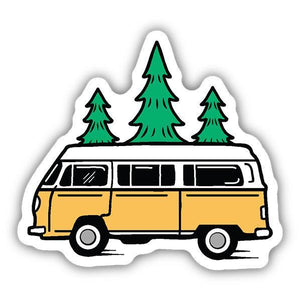 Bus and Trees Sticker