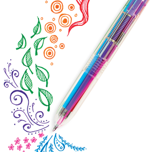Six Click Colored Gel Pen