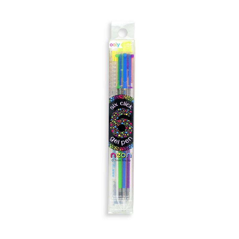 a package with a multicolor neon pen