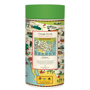 Cavallini & Co National Parks Map 1,000 Piece Puzzle