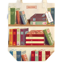 Load image into Gallery viewer, Cavallini & Co. Library Books Tote Bag
