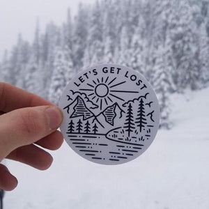 Lets Get Lost- Digital Sticker