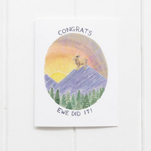Load image into Gallery viewer, Ewe Did It Congrats Card