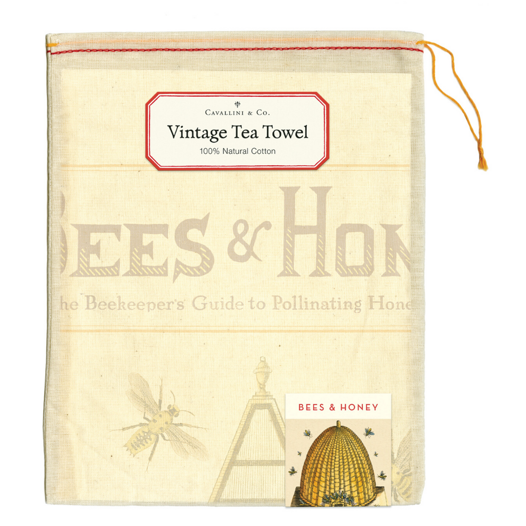Cavallini & Co. Bees & Honey Tea Towel