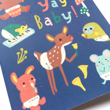 Load image into Gallery viewer, Yay Baby! Woodland Baby Card