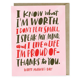 Know My Worth Mom Card