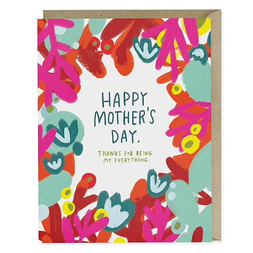 Mother's Day Red Floral Card