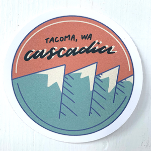 Cascadia Circle- Tacoma, Wa Sticker