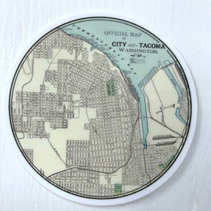 City of Tacoma Map Sticker