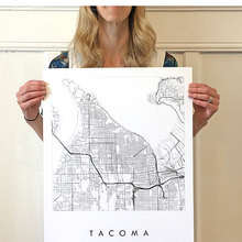 Load image into Gallery viewer, Tacoma City Lines Map (16x20)