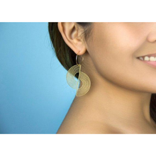 Load image into Gallery viewer, Split Circle Earrings